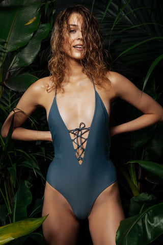 Laeilia Lace-up One Piece