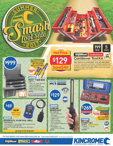 Kincrome Summer Smash Tool Sale on now - View Catalogue Here