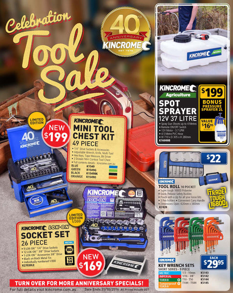 kincrome catalogue sale toolies tool specialists newcastle sandgate