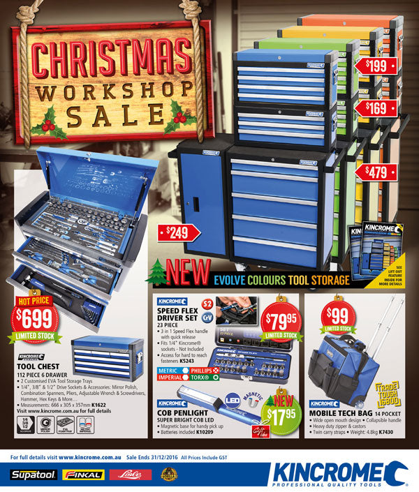 Kincrome Christmas Catalogue Workshop Sale at Toolies Tool Specialists Newcastle
