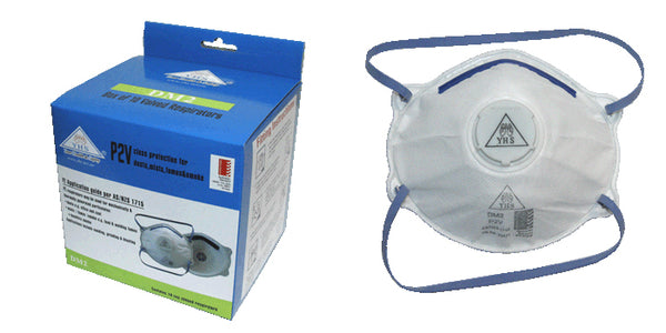 DM2 P2V Respirator Cup Shape Mask 10pk Box Toolies Tool Specialists