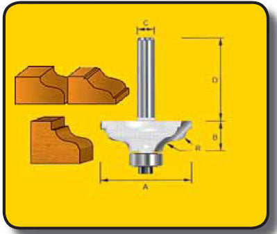Stanley Truacut Ogee with Top Fillet Router Bit TB75065/2 Toolies Tool Specialists Newcastle Sandgate