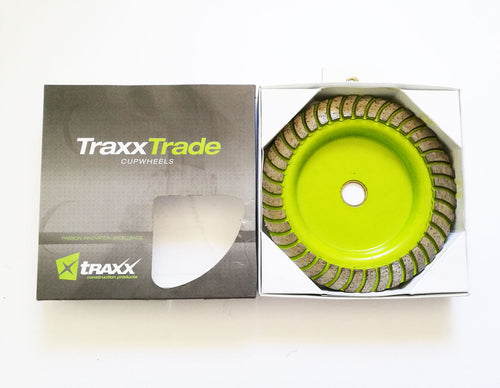 Traxx Trade TBCWC0180 180mm Cup Coarse Wheel Toolies Tool Specialists Maitland Road Sandgate Newcastle Tools