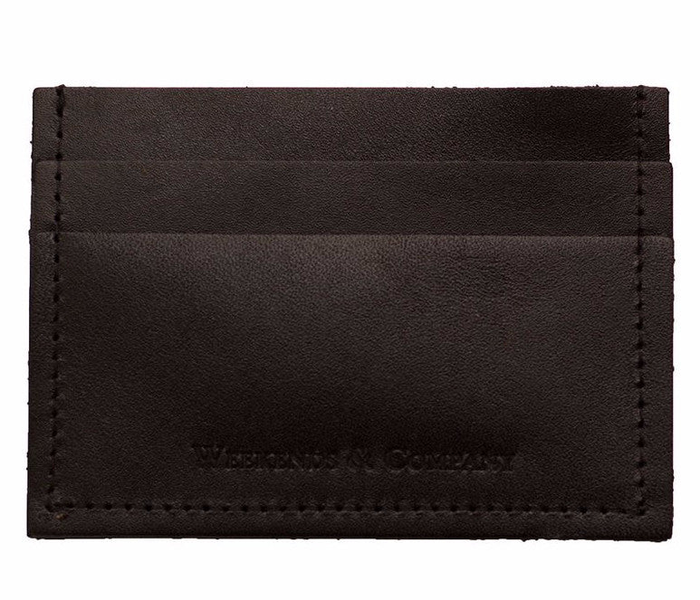 Weekends & Company Minimalist Wallet - Black Dusk