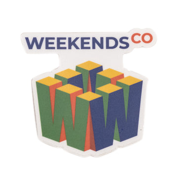 Weekends 64 Sticker - 3