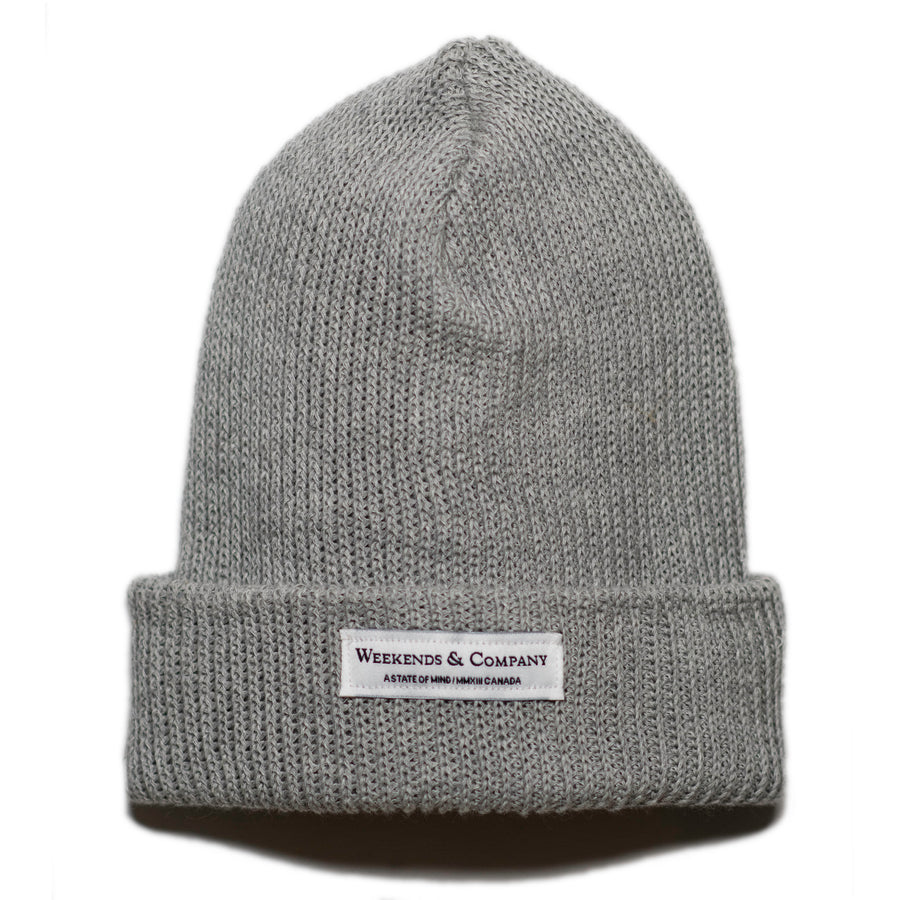 Weekends Beanie - Light Grey