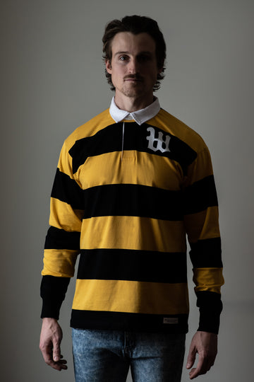 Weekends Rugby Jersey - Honey Bee Yellow