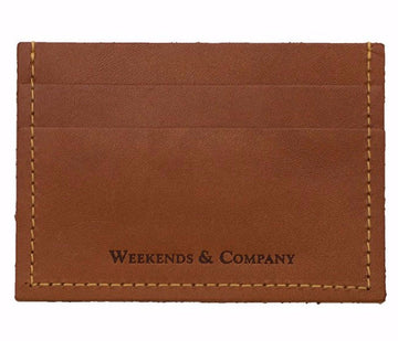 Weekends & Company Minimalist Wallet - Whiskey