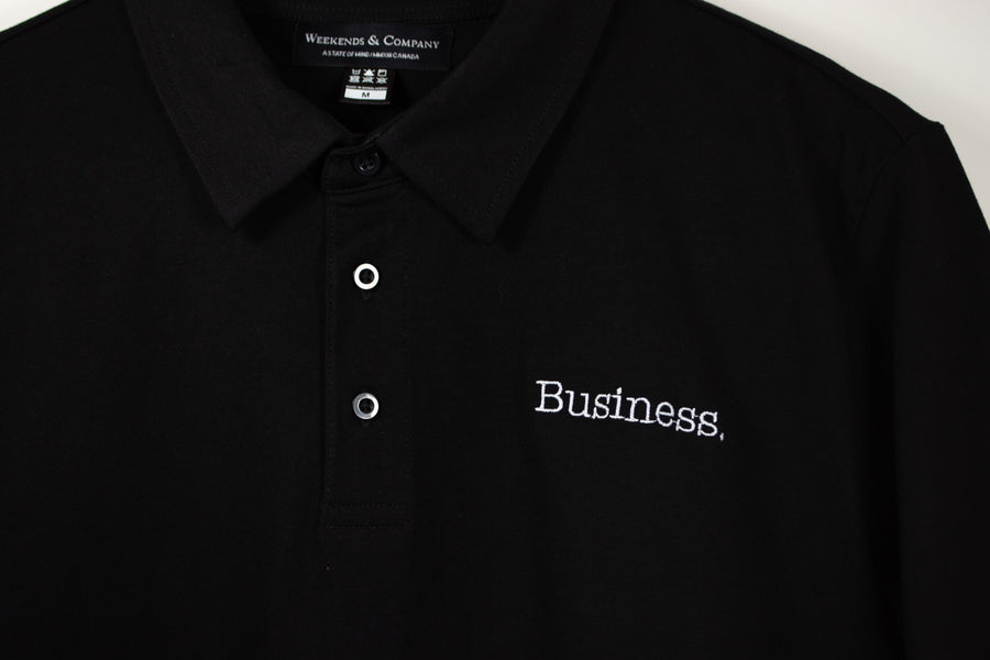 Business Party Polo - Black
