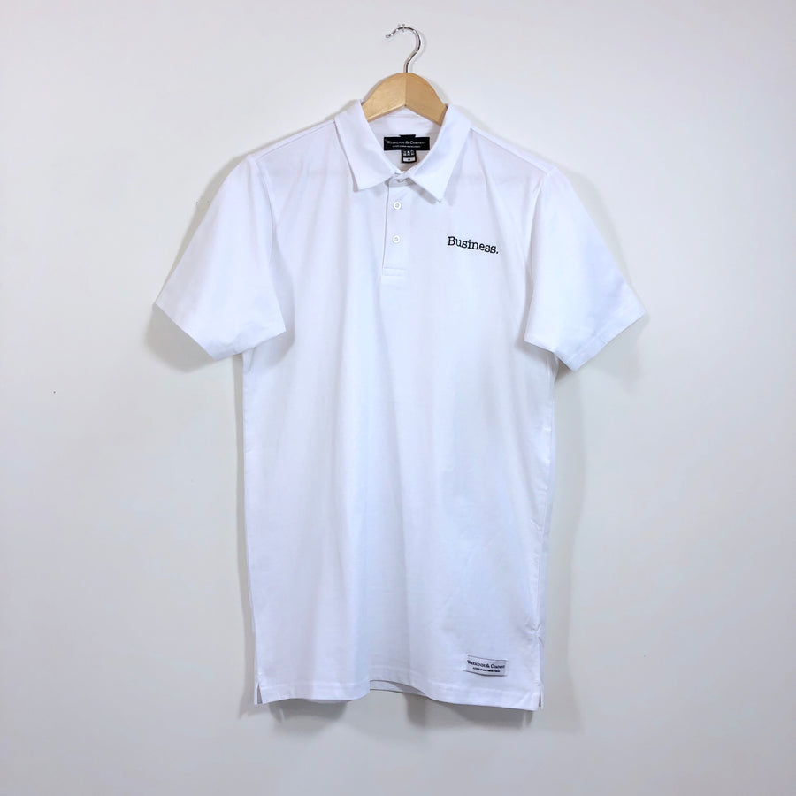 Business Party Polo - White