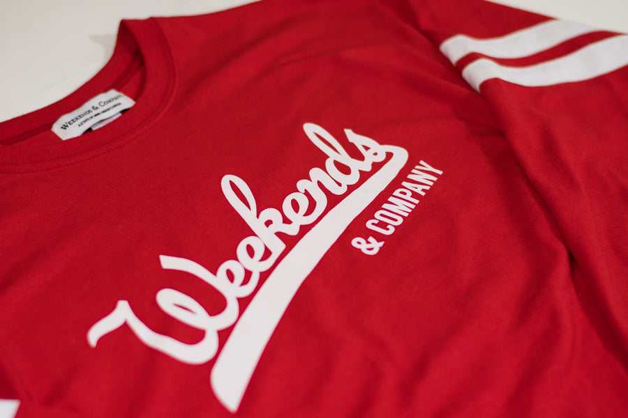 Major League L/S Tee - Red