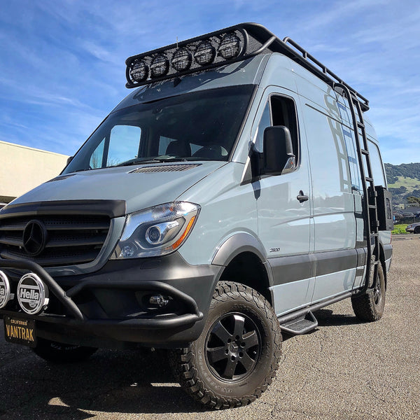 blue grey mercedes sprinter vantrak camper van for sale by gr gear. Black Bedroom Furniture Sets. Home Design Ideas
