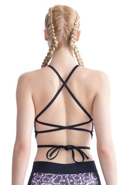 Kikka Wrap Back Crop Top