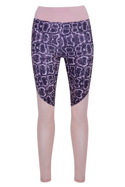 Cobra Print & Mesh High Waisted Legging