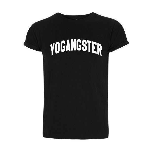 Black Rolled Sleeve T Shirt