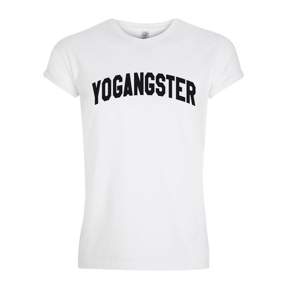 white cotton yoga t shirt