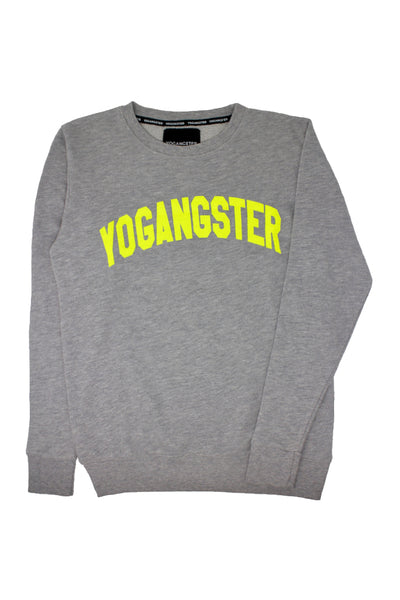 Grey & Neon Yellow Yogangster Sweatshirt