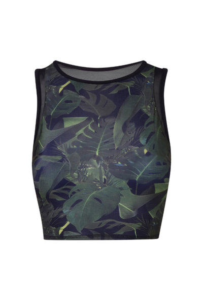 Jungle Mesh Back Crop Top
