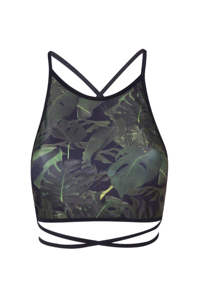 Jungle Wrap Back Top