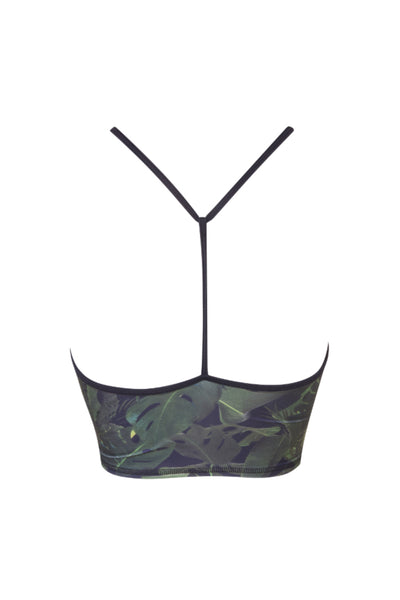 Jungle Y Back Crop Top
