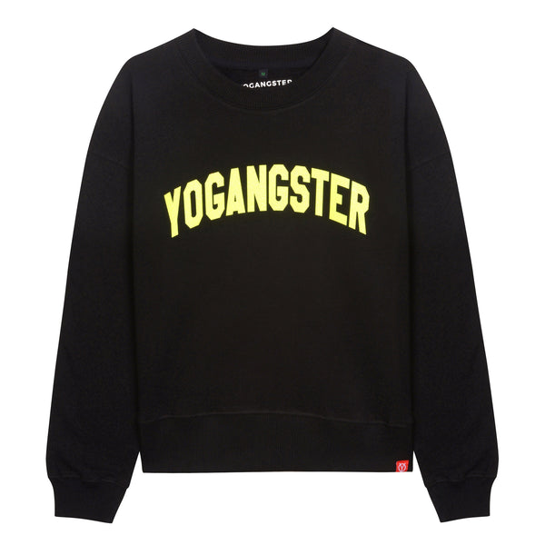 womens neon sparkle yoga sweatshirt