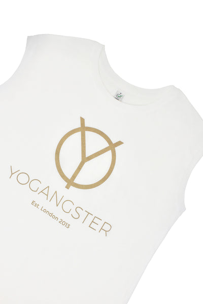White & Gold Icon Sleeveless T-Shirt