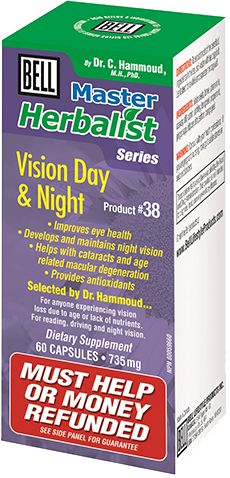 Bell #38 Vision Day & Night, , Vitamins and Supplements, Bell Lifestyle Products, Brentwood Health and Wellness
