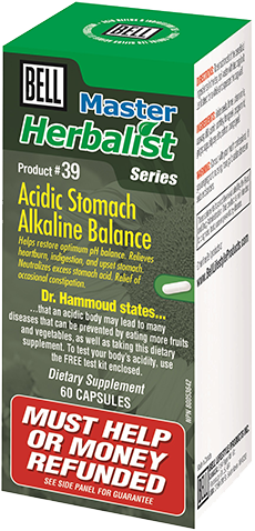 Bell #39 Acidic Stomach Alkaline Balance, Vitamins and Supplements, Bell Lifestyle Products - Brentwood Health and Wellness