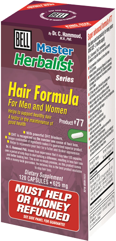 Bell #77 Hair Formula for Men and Women, , Vitamins and Supplements, Bell Lifestyle Products, Brentwood Health and Wellness