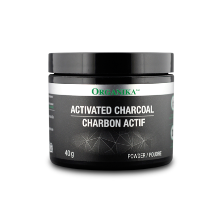 Organika Activated Charcoal powder 40 g, , Health and Beauty, Organika, Brentwood Health and Wellness