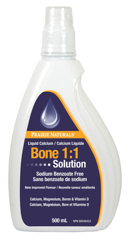 Prairie Naturals Ionic Liquid Bone Solution 1:1  500ml, Vitamins and Supplements, Prairie Naturals - Brentwood Health and Wellness