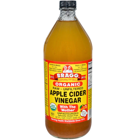 Bragg Apple Cider Vinegar 946ml Glass Bottle, Foods and Grains, Christmas - Brentwood Health and Wellness