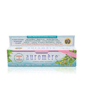 Auromère SLS Free Ayurvedic Herbal toothpaste - 75ml, , Health and Beauty, Flora Manufacturing & Distributing Ltd., Brentwood Health and Wellness