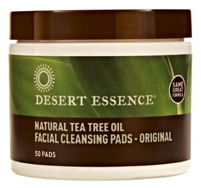 Desert Essence Natural Tea Tree Oil Cleansing Pads 50 pads/jar, , Health and Beauty, Christmas, Brentwood Health and Wellness