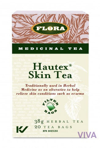 Flora Hautex Skin Tea 20 Tea Bags, , Teas, Flora Manufacturing & Distributing Ltd., Brentwood Health and Wellness