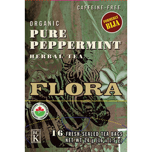 Flora Pure Peppermint Tea 16 Tea Bags, , Teas, Flora Manufacturing & Distributing Ltd., Brentwood Health and Wellness