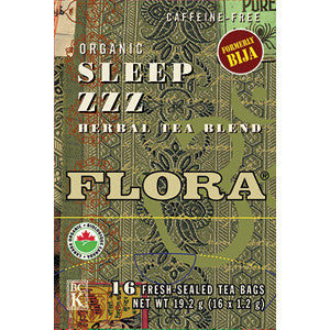 Flora Sleep ZZZ Tea 16 Tea Bags, , Teas, Flora Manufacturing & Distributing Ltd., Brentwood Health and Wellness