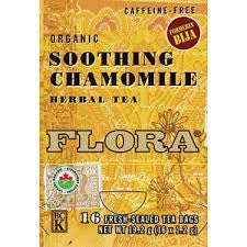 Flora Soothing Chamomile 16 Tea Bags, , Teas, Flora Manufacturing & Distributing Ltd., Brentwood Health and Wellness