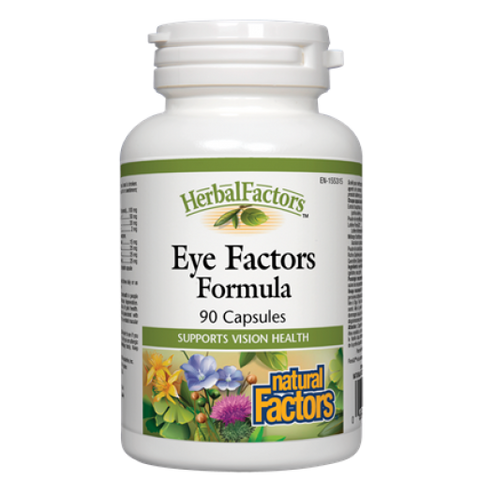 Herbal Factors® Eye Factors Formula Bilberry Extract 50mg 90 Cap, , Vitamins and Supplements, Natural Factors, Brentwood Health and Wellness