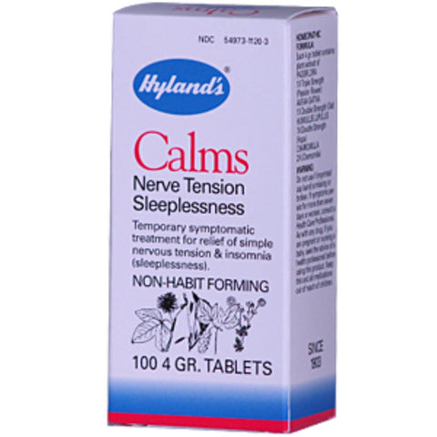 Hylands Calms 100 tab, Homeopathy, Hylands - Brentwood Health and Wellness