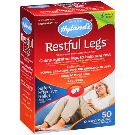 Hylands Restful Legs 50 tab, Homeopathy, Hylands - Brentwood Health and Wellness
