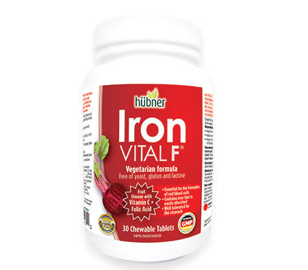 Hubner Iron Vital 30 chewable tablets or 250 ml liquid, , Vitamins and Supplements, Naka, Brentwood Health and Wellness