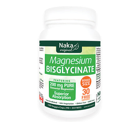 Naka Magnesium Bisglycinate 120 Capsules, , Vitamins and Supplements, Naka, Brentwood Health and Wellness