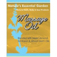 Nature's Essential Garden Massage & Bath Oil Base 240ml, , Aromatherapy and Essential Oils, Nature's Essential Garden, Brentwood Health and Wellness