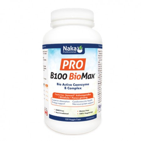 Naka Pro B100 BioMax 120 capsules, , Vitamins and Supplements, Naka, Brentwood Health and Wellness