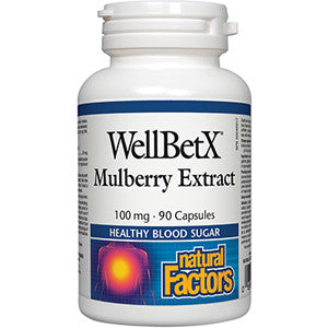 Natural Factors WellBetX® Mulberry 100mg 90 Cap, , Vitamins and Supplements, Natural Factors, Brentwood Health and Wellness