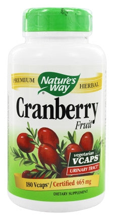 Nature's Way Cranberry 465g 180 cap, , Vitamins and Supplements, Nature's Way, Brentwood Health and Wellness