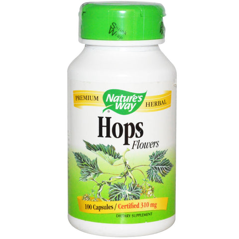 Nature's Way Hops Flowers 100 cap, , Vitamins and Supplements, Nature's Way, Brentwood Health and Wellness