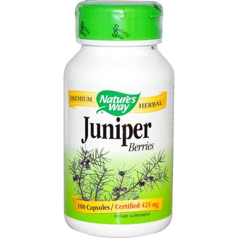 Nature's Way Juniper Berries 425mg 100 cap, Vitamins and Supplements, Nature's Way - Brentwood Health and Wellness