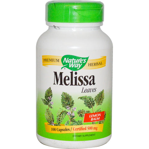 Nature's Way Melissa Lemon Balm Herb 100 caps, , Vitamins and Supplements, Nature's Way, Brentwood Health and Wellness